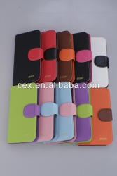 Orange WH Wallet Flip Stand PU Leather Case Pouch For Samsung Galaxy S4