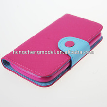 Color Wallet Pocket PU Leather Case Cover Protector Flip for iPhone 3G case