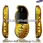 Unlocking cell phone Single sim metal body Peanut-shaped mini phone