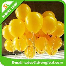 Yellow balloons rubber balloons