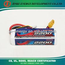 11.1V 2200mah 20C lipo battery for RC airplane,car,boat etc.