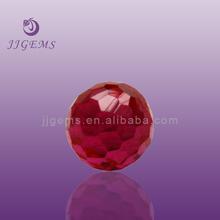 forma redonda facetas ruby cuentas