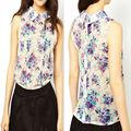 Caliente para mujer de la venta readymade blusas con sin mangas de china proveedor OEM