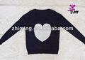 Nuova moda donne europee lungo giro manica- collo amore cuore modello maglia maglione pullover