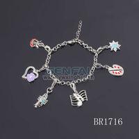 zinc alloy old fashioned charm bracelets