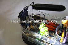 Aquarium LED Clock Light desktop calendar usb fish tank Wholesale high quality