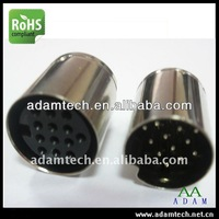 mini din type 10 pin male connector for DC cable