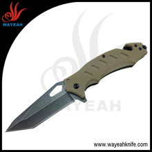 Knife manufacture Coyote Tan G10 Handle,Tanto Blade,Grafting knife ER-010