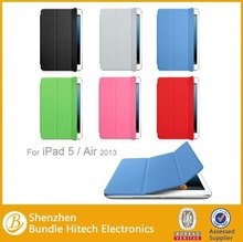 leather smart cover for new ipad,for apple ipad air