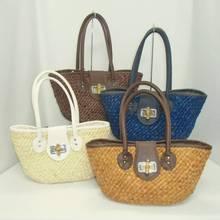 Corn Husk Straw Bag for woman tote type