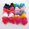 New Large Floral Chiffon Rosette Hair Bows For Girls Women Wholesale IN STOCK