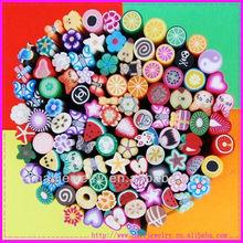 100 pcs Mixed Styles Polymer Cane Nail Art Sticker Nail Fruit Bar
