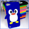 Good price silicon cover 3D penguin silicon case for ipod touch 4