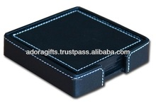 ADACS - 0042 the most attractive leather coaster pads / high quality custom leather coaster / leather coaster with embossed logo