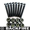 "Backfire 1 Set of 8 Black Longboard Skateboard 1.5"" Hardware Screws Set"