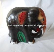 Clay Elephant money box