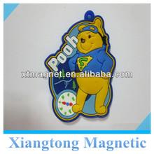 Custom Soft Pvc Happy Bear Fridge/Refrigerator Magnets for Promotion