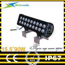 High Intensity waterproof 10-30V Spot Beam 15.5inch 90W Cree Chips IP67 LED Light bar for ATV 7200 Lumen WI9026-90