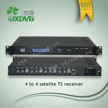 Professional asi output dvb-s/dvb-t free to air digital receiver