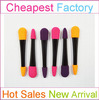 Customized rubber sponge brush with colorful makeup brush