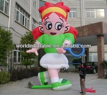 inflatable sport girl cartoon