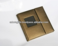 ADACD - 0019 leather car cd dvd bag & holder / new leather custom cd dvd holders / standard dvd case with leather material
