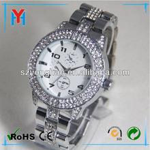 man luxury crystal watch alloy strap japan movement shenzhen manufacture