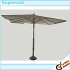 PVC Parasol Umbrella Wood Frame