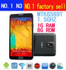 "NO.1 N3 MTK6589T Quad Core Android 4.3 used cell phones for 5.7""IPS screen 13.0MP Camera"