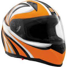 SparX Tracker Full-Face Motorcycle Helmet - Stiletto Orange TR