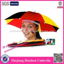 hat head umbrella, mini umbrella hat