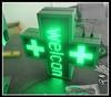 Single side full color RF wireless communication P10-48X48cm LED cross sign pharmacy
