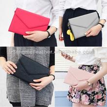Luxury smart clutch pouch handbag design wallet case cover for iPad Mini 2, for iPad Mini 2 leather smart cover case