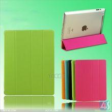 2014 New Design Four Folding Smart PU Stand Leather Folio Case for iPad 2 3 4 P-iPAD234CASE098