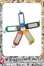 Five Colors Blank Plastic Key Tag