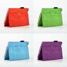 Colorful Folio Design Premium PU Leather Protective Skin Stand Case Cover for Apple iPad Mini