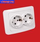 2 gang wall socket european style/2 gang socket