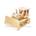 Robotime 3D juguetes rompecabezas de madera - R / C Bulldozer