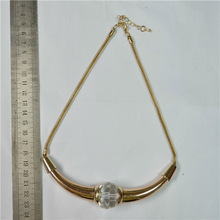gold chunky chain necklace with horn design pendant