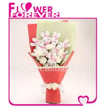 lovely plush rabbit flower valentines day gifts