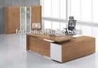 Simple latest wooden office table designs, Wood office table furniture, Wooden modern office table(FOHBM18-B)