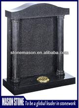 Hot sale traditional black headstone flower holder
