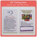 Uv Ray détecteur d'intensité carte pour la protection de la peau