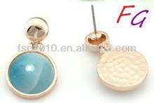Er-SL-0127 cheap chandelier 925 silver earrings jewelry circular natural larimar big earrings larimar