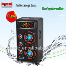Creative speaker volume control disco/traffic/laser light powered China active DJ speaker