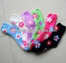 moda calze microfibra motivi floreali stampa di colore su misura lunghezza dimensioni per le femmine