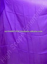 Belly Dance Pure Silk Veils solid Velvet Blue color