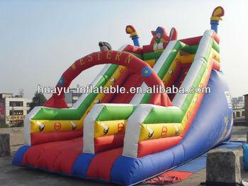 Western Fasion Inflatabe Slide For Christmas On Sale Festival Celebration