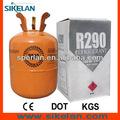 r290 propano gas tanque de la iso precio