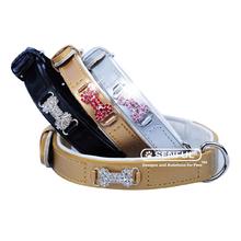 Adjustable PU Leather Safety Pet Dog Collar